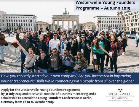Westerwelle Young Founders Programme Autumn 2019 for Young