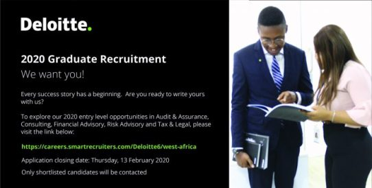 Deloitte Graduate Recruitment 2020