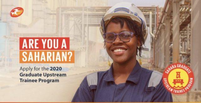 sahara group 2020 graduate upstream trainee program