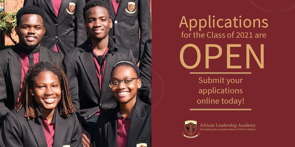 African Leadership Academy (ALA) 2021 for Young Leaders across Africa (Two-Year Pre-University Program) – financial assistance available. | Opportunities For Africans