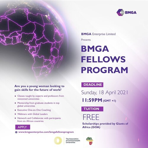 The BMGA Fellows Program 2021 for young African Women.