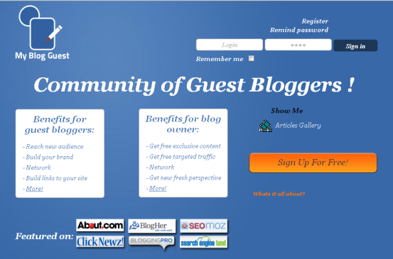 Guest Blogging Community