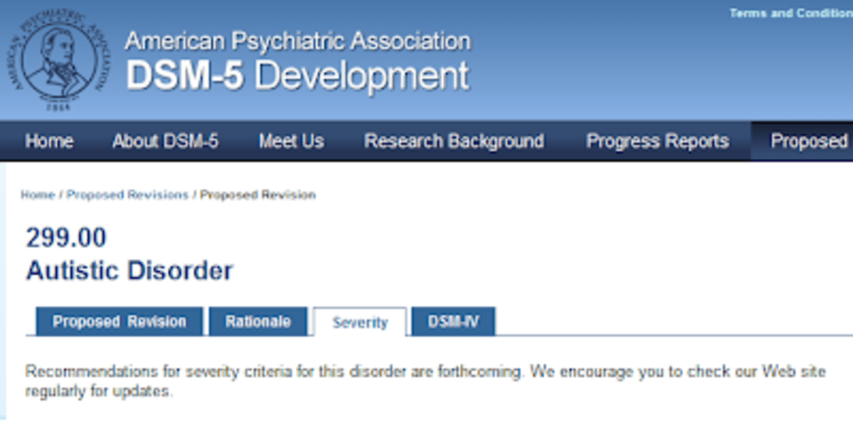 What Autism Spectrum Disorder Severity Criteria Are Being ...
