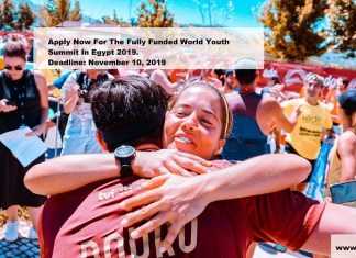 Apply Now For The Fully Funded World Youth Summit In Egypt 2019.