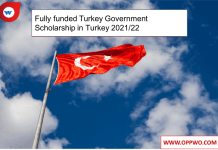 Fully funded Turkey Government Scholarship in Turkey 2021/22