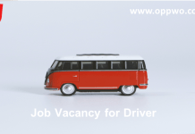 Job Vacancy for Driver