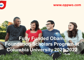 Fully Funded Obama Foundation Scholars Program at Columbia University 2021-2022