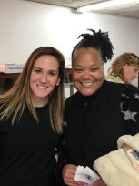 Dayna Stoller, HR Generalist at OP, and Sister Candy, Bethlehem Church Chicago, take a prep break to show off those smiles!
