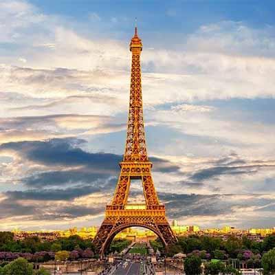 Eiffeltoren in Frankrijk op reis in frankrijk