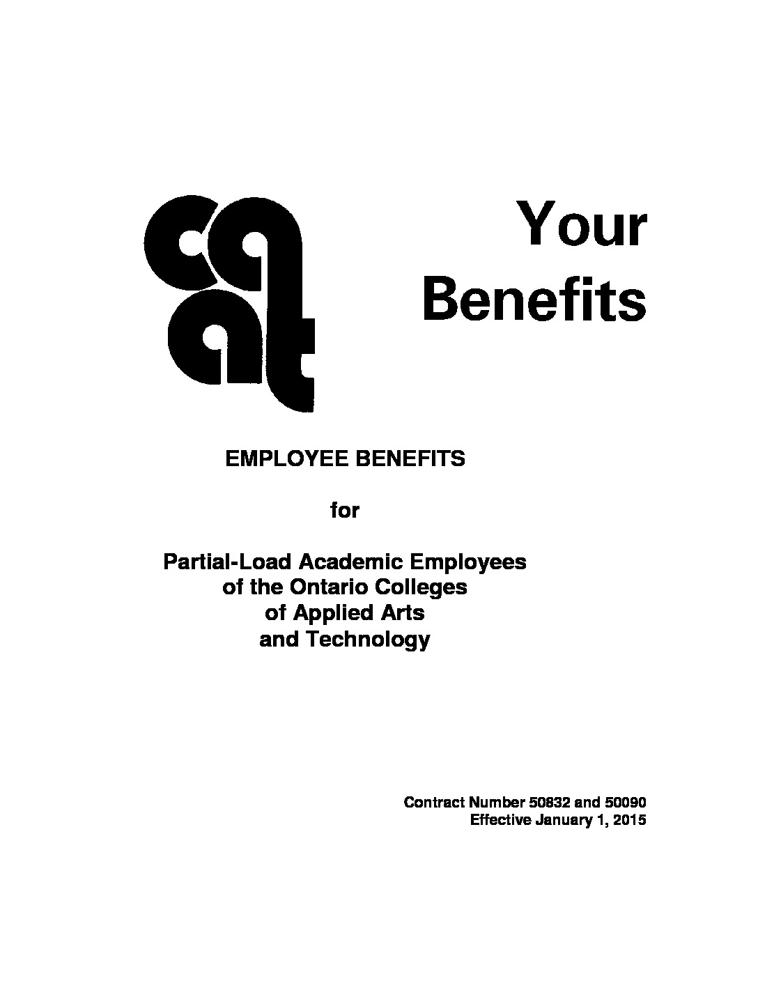 Benefits Booklet for Partial-Load Faculty (2015)