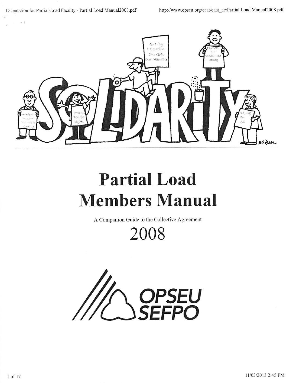 Partial Load Members_Manual (2008)