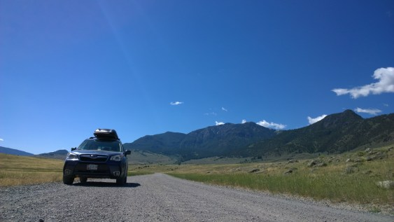 On a wonderous little dirt road to the North of Yellowstone in Montana.
