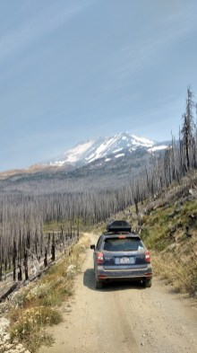 Coming down from our campsite at Mt. Adams in Washington