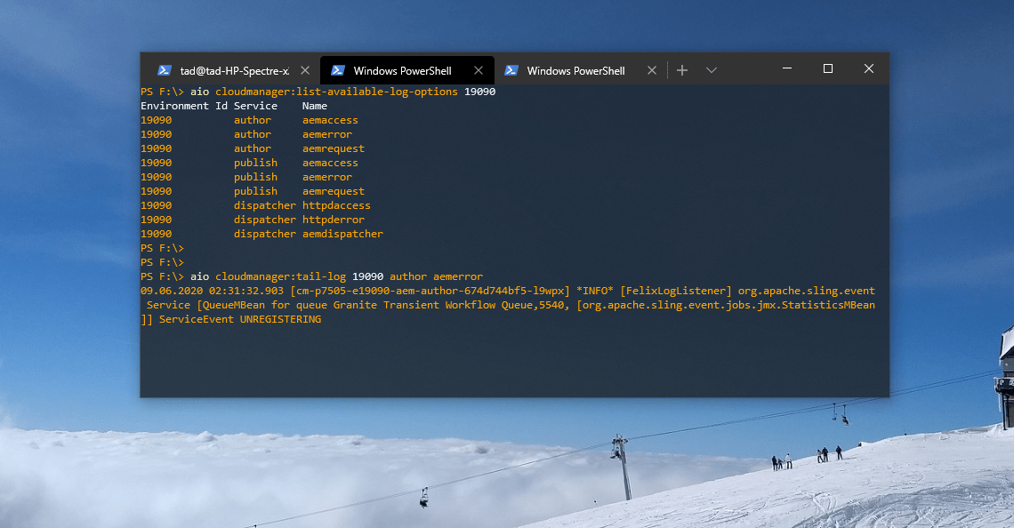 Tailing Logs on AEM as a Cloud Service