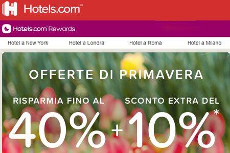 hotels saldi primavera
