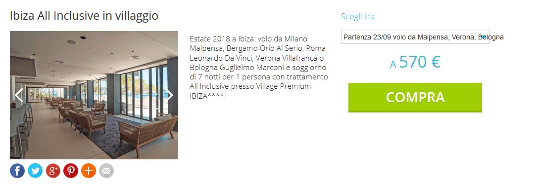Groupalia Viaggi: Offerta Coupon Ibiza 7 notti in All Inclusive da 570 euro