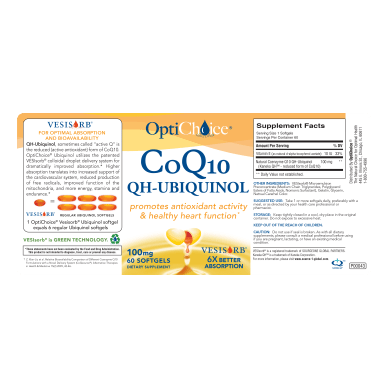 Opti-Choice CoQ10 QH Ubiquinol with VesiSorb