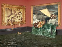 bad day in art museum optical
