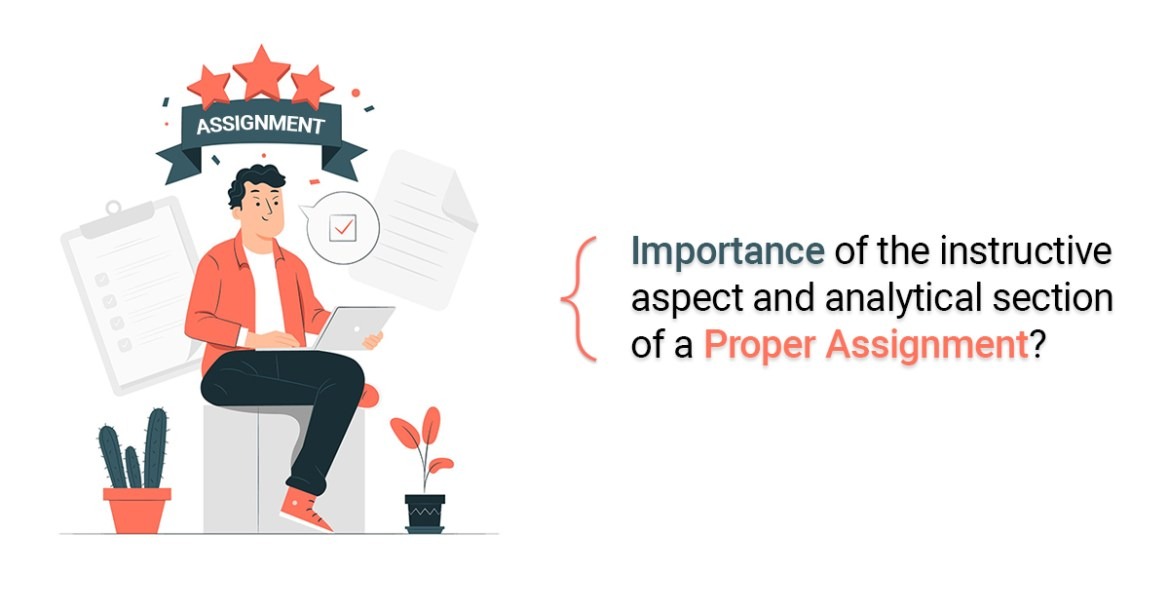 Importance of the instructive aspect and analytical section of a proper assignment?