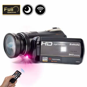 2018 Wifi Full 1080P Full HD 30FPS Night Vision Investigation Camcorder