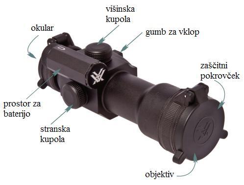 Rdeče pike Vortex StrikeFire navodila za uporabo