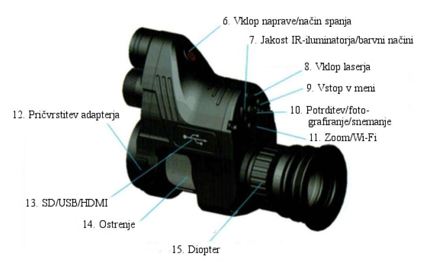 Digitalni nočni nastavek Pard NV007 navodila za uporabo