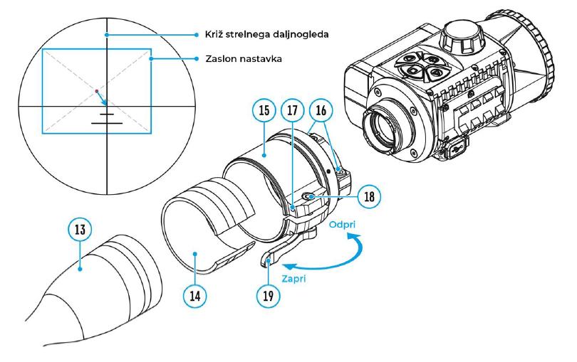 Termovizijski nastavek Krypton FXG50 navodila za uporabo