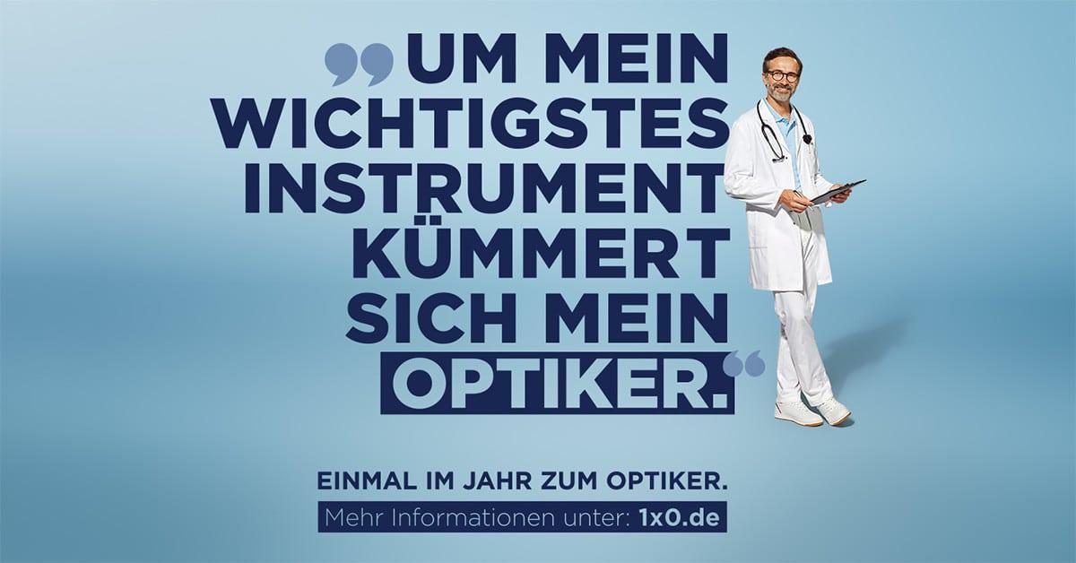 """Werbebild """"Einmal im Jahr zum Optiker"""""""