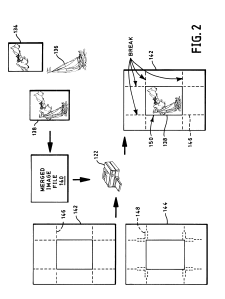 US 6549295 B1 – Method for making products having merged images