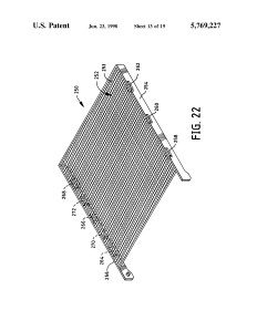 US 5769227 A – Box container systems and display frames with two-dimensional multiple view optics