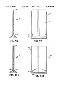 US 6070349 A – Multi-purpose easel for displaying multiple, 3D, and animated images