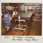 1st Tropel assembly for Korea - Table setup - 1989