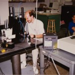 Pat Cronkite working in one of our early labs