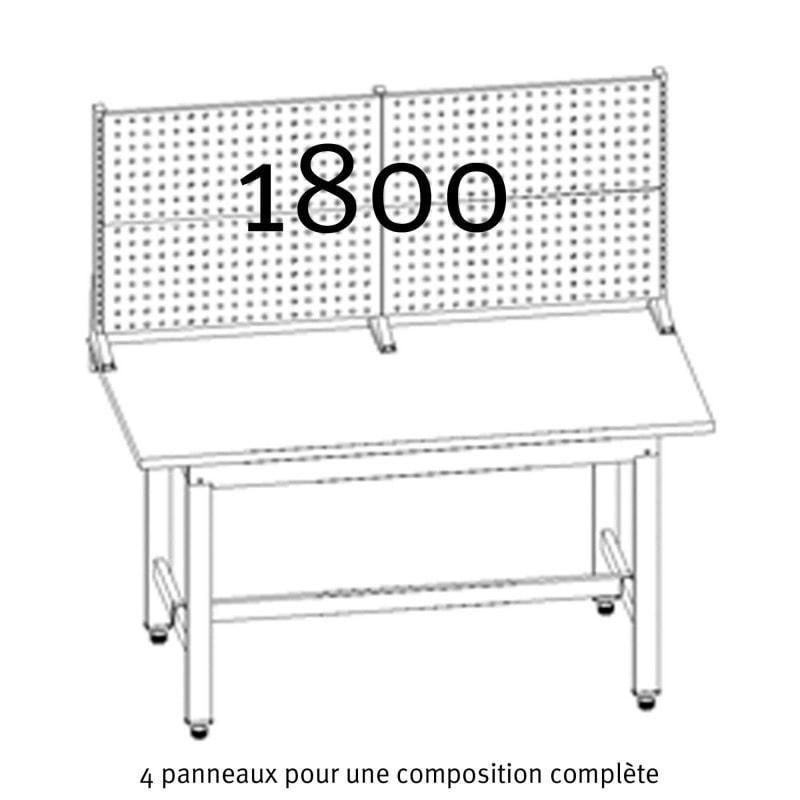 composition complete des panneaux crantes uniworks pour etabli 1800 mm eepl2908