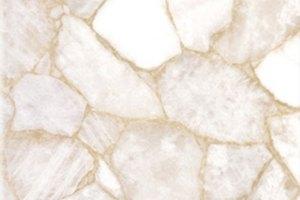 Curdy Quartz White semi precious worktops installed Birmingham