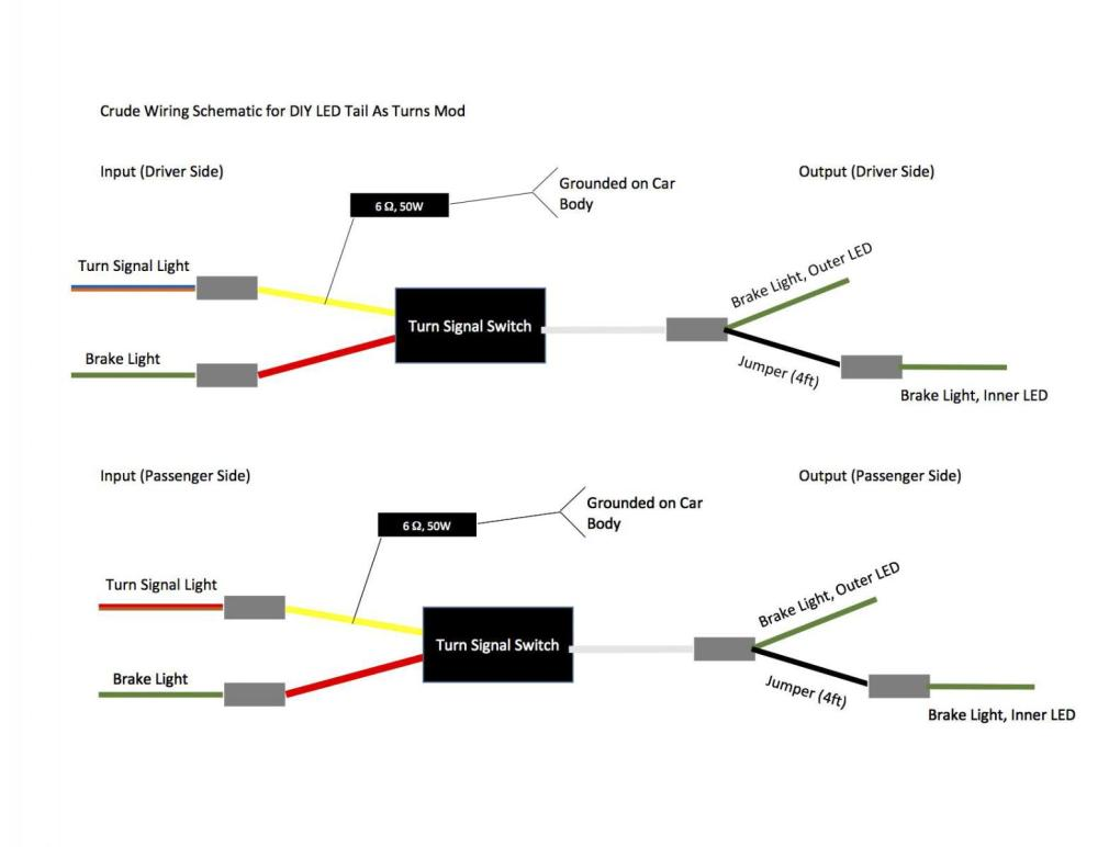 medium resolution of tailight as turn signal mod page 5 1996 ez go wiring diagram rxv gas wiring diagram