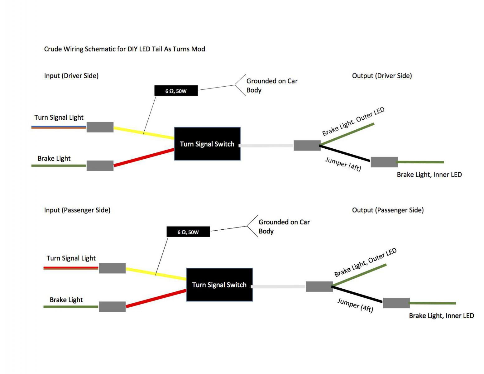 hight resolution of tailight as turn signal mod page 5 1996 ez go wiring diagram rxv gas wiring diagram
