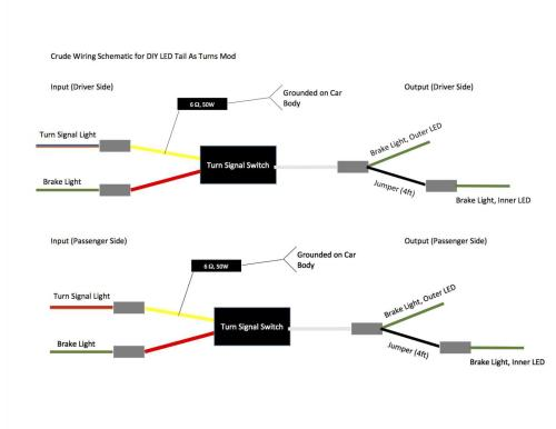 small resolution of tailight as turn signal mod page 5 1996 ez go wiring diagram rxv gas wiring diagram