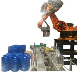 Glass Carboy Pallet Breaks and Palletizing Roboticlines