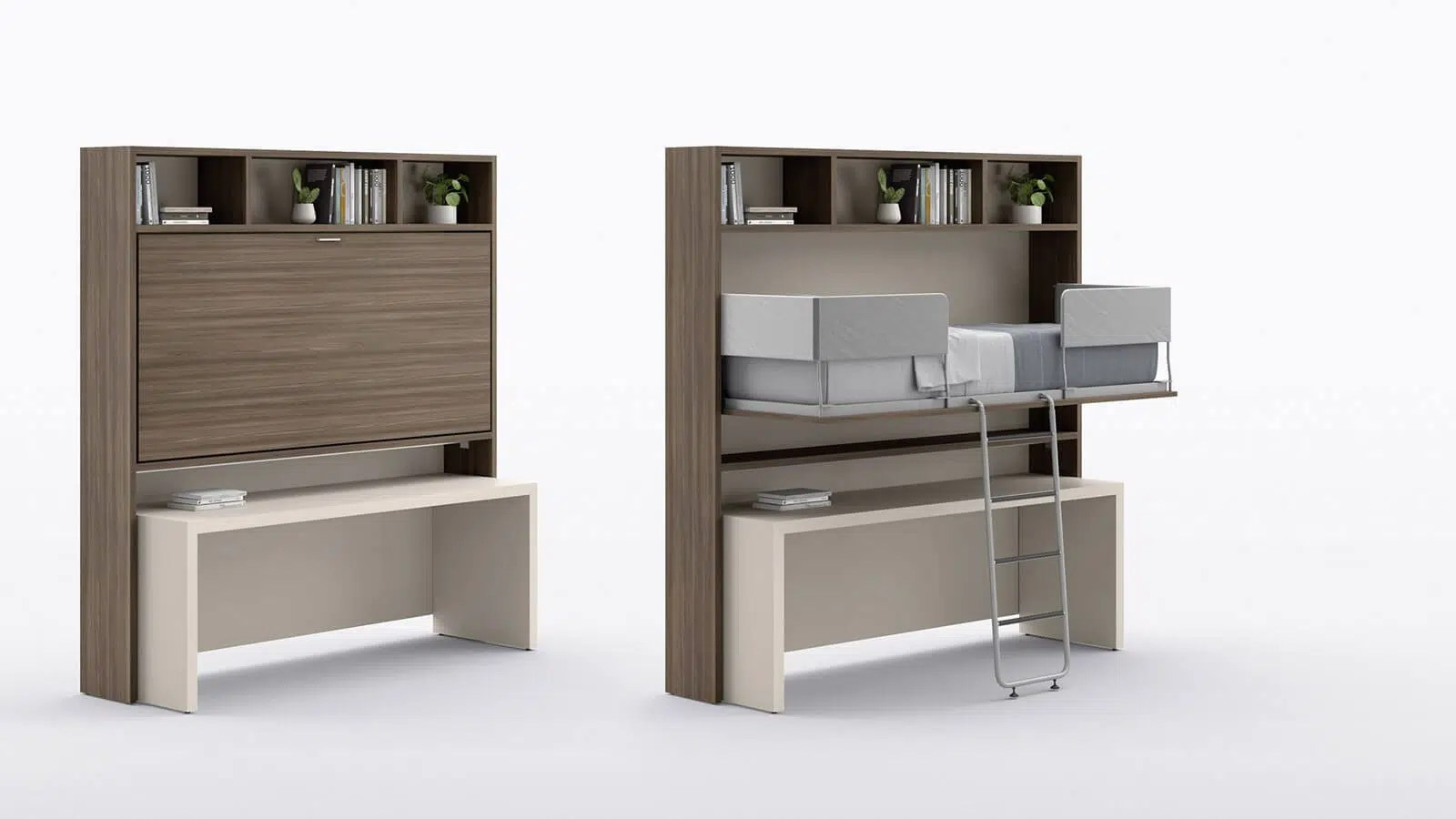 lit escamotable bureau et table gain