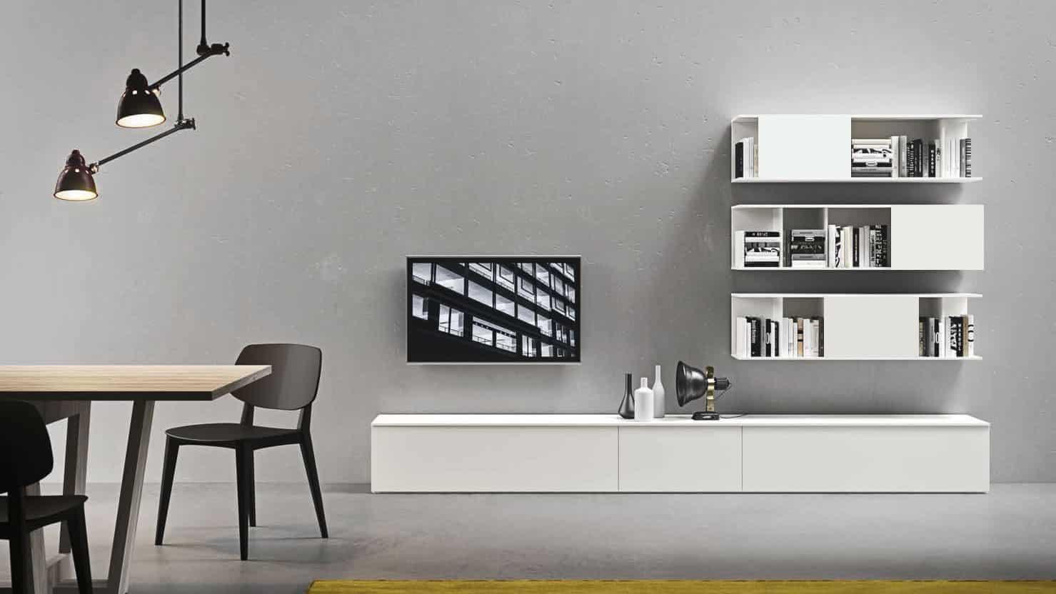 meuble tv blanc salon optimal annecy