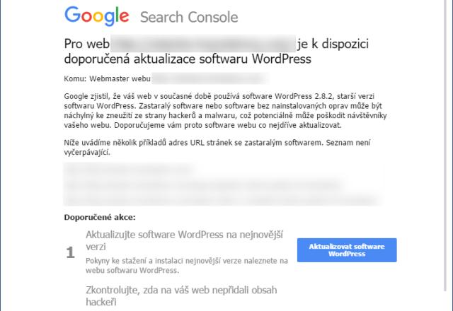 Aktualizace Wordpressu