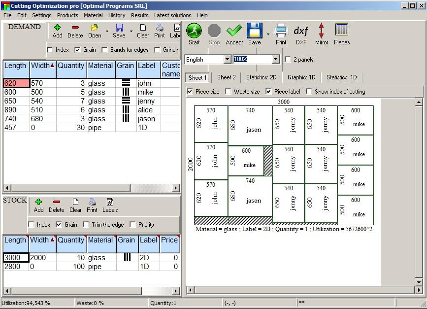 Sheet Cutting Optimizer Online