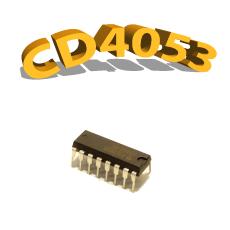 CD4053BP - Multiplexeur / Démultiplexeur, 3 V à 15 V, DIP-16, CD4053, 4053