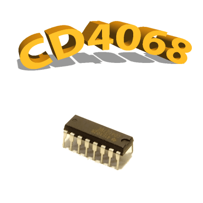 CD4068BE- ET & NON-ET, 3 V à 15 V, DIP-14, CD4068, 4068