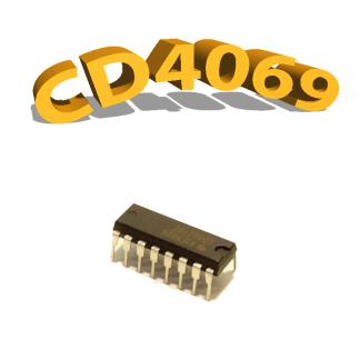 CD4069BE- Inverseur, 3 V à 15 V, DIP-14, CD4069, 4069