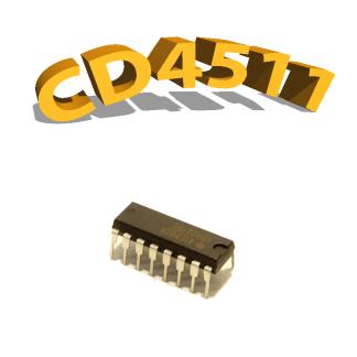CD4511BE - Décodeur BCD 7 Segments, 3 V à 15 V, DIP-16, CD4511, 4511