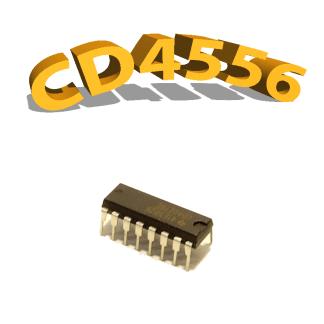 CD4556BE - Décodeur / Démultiplexeur, 3 V à 15 V, DIP-16, CD4556, 4556