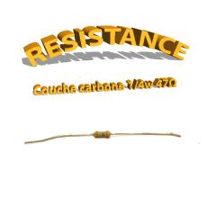 Résistance 47 ohm à couche Carbone 1/4W