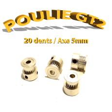 Poulie GT2 20 dent - 5mm